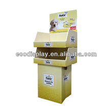 Easy Assemble Flat Packed Cardboard POP Display for Pet Food, Shampoo Display Stand