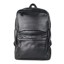 Custom travelling bag mens leather school laptop rucksack wholesale leather backpacks