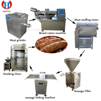 Industrial Sausage Production Line Smoker Tying Machine Meat Grinder Sausage Making Machine