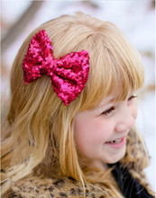 Fashion girls sequin big bow <strong>hair</strong> clip cute infant toddler <strong>hair</strong> clips kids <strong>hair</strong> <strong>accessory</strong> wholesales