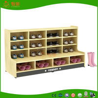 Children school furniture wooden shoes cabinet For sale
