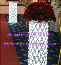 Wholesale Customized Design crystal flower stand floor stand Centerpiece Wedding decoration