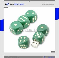custom logo Wooden cute dice usb flash memory stick, factory price usb flaslh drive