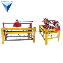 Stonemate self-manufactured pneumatic uplifting manual light stone cutting saw cutter table