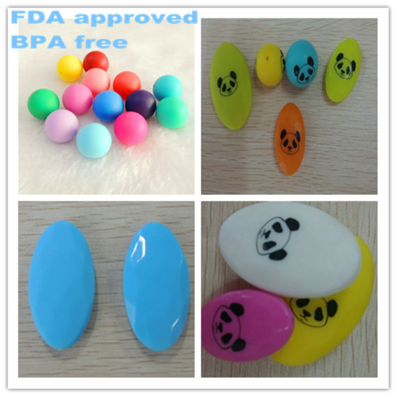 Custom printed silicone beads for jewelry sedex audit manufacturer