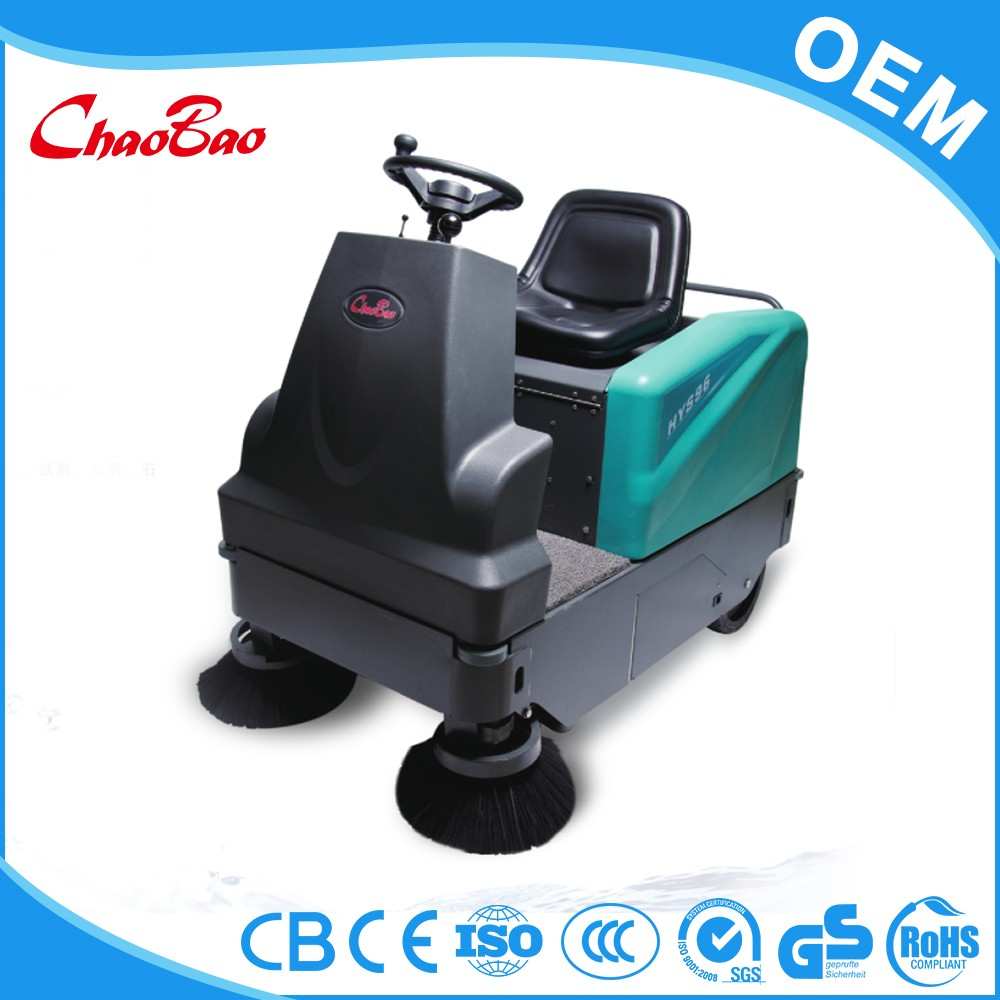 Cordless driving type mechanical broom sweeper sweeping machine
