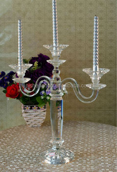 all shaped long stemmed crystal glass candle holder for sale