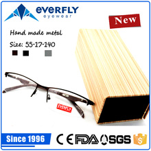 High quality metal classical half rim man's new model optical frame fashion eyeglasses frames spectacles