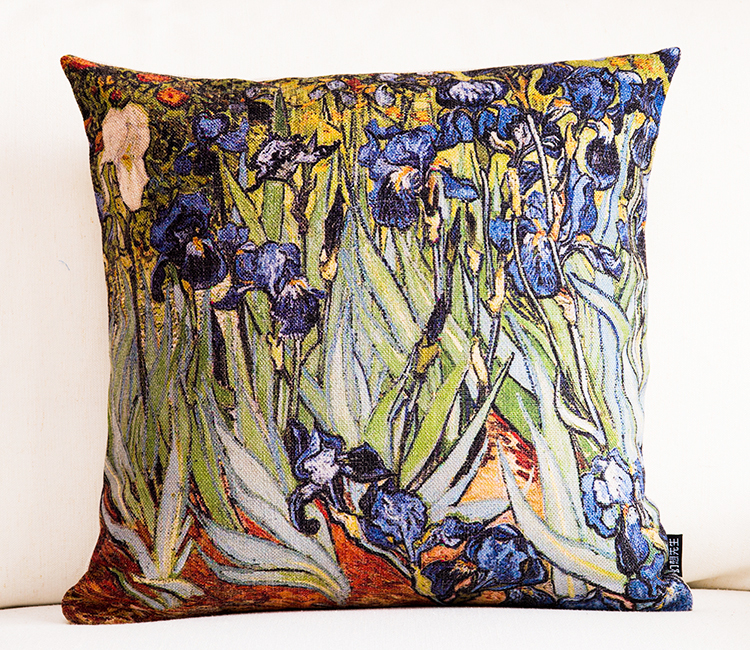 custom outdoor UV-proof linen garden sofa decor cushions /digital print watercolor pillow cover