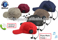 Wholesale Handsfree Function Sports Cap with Bluetooth Earphone Headphone