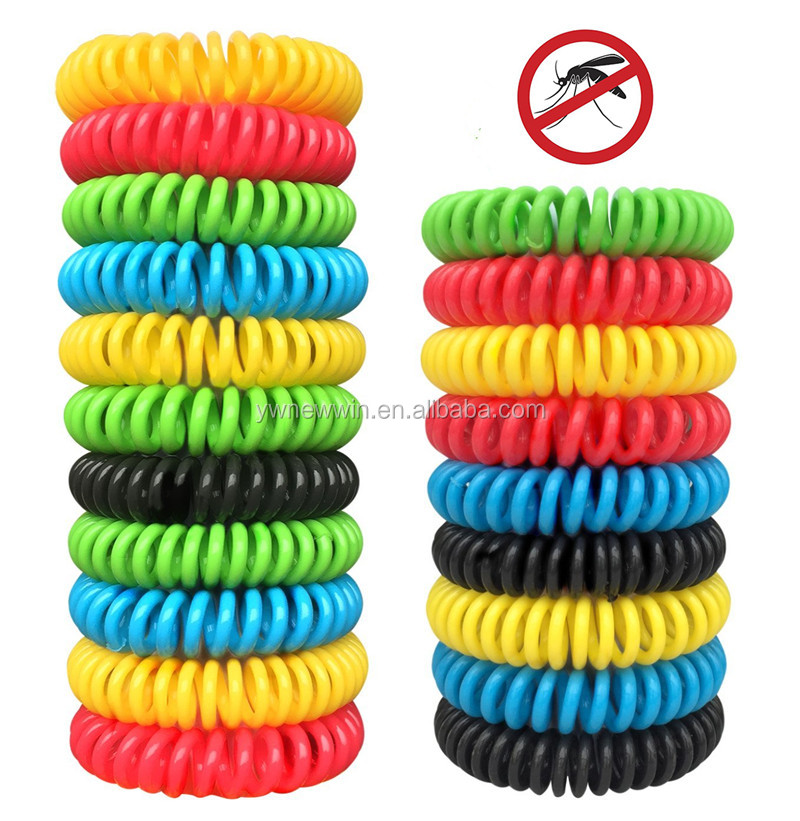 Natural Mosquito Repellent Bracelets Insect Bug Repellent Bands, Deet-Free Wristband, Pest Control Bands for Kids & Adults