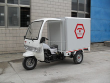 Big Power Front Cabin Chinese Three Wheel Cargo Tricycle With Closed Box On Sale