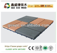wpc DIY decking wpc flooring recycled plastic and waste wood fiber.