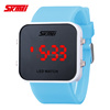 square face wide silicone band big face watches for women