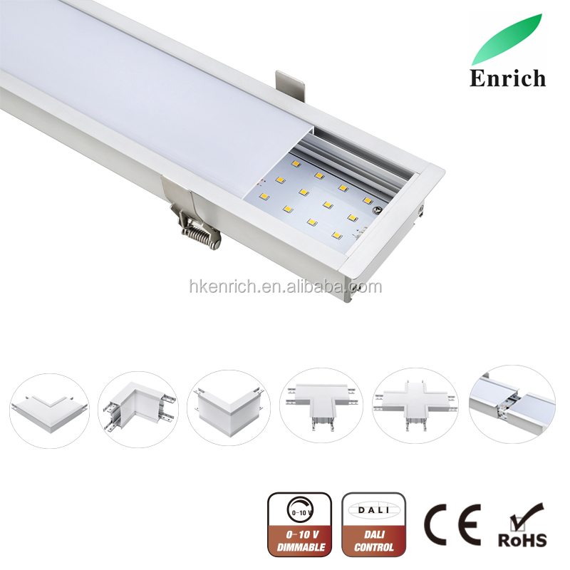 Recessed mounting way led linear light for office 7035series