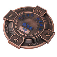 zinc alloy custom antique logo souvenir copper metal plate