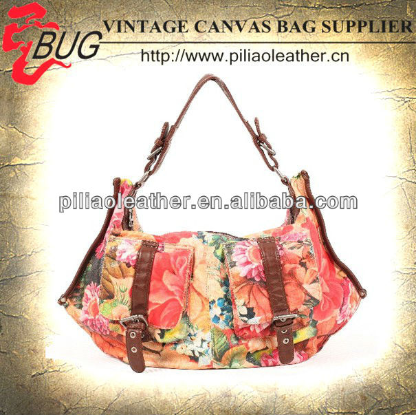 2013 latest lady's floral Oilcloth lady handbag