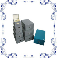 Embossed Paper Nesting Storage Boxes