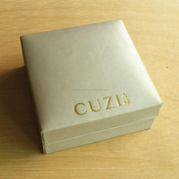 CUZI square handmade necklace jewelry packaging paper box