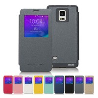 Mercury Wow Bumper Transparent Leather Cover for HTC One M8 Dot View Case