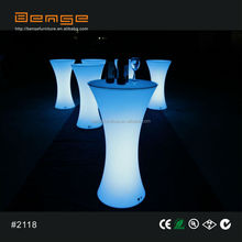 Outdoor party Hot LED cocktail table