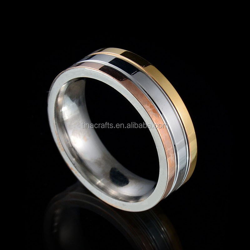 Double arrow eternal love rose gold Ring with CZ stone