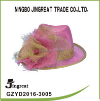 High Quality Philippines Sinamay Fashion Party Hats pink