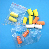 Multicolor disposable foam earplug ear plugs bulk earplugs one time use earplugs with cheap price packed in polybag