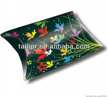 folding custom printed paper pillow box