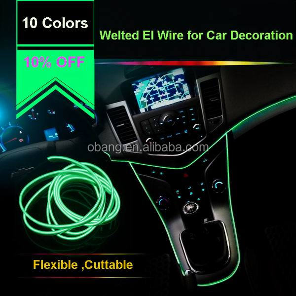 10% off super bright electroluminescent el wire neon wire for car decoration