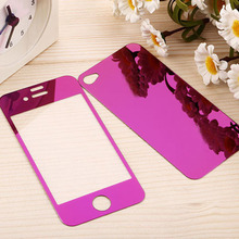 mirror effect 2.5D color tempered glass screen protector