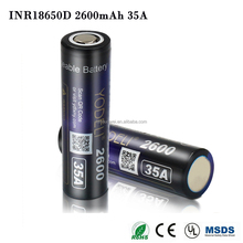 Wholesale Li-ion 18650 Battery 3.7v 2600mah Rechargeable Battery For Electric Toys