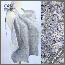 paisley design breathable cotton baby nursing cover