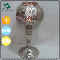 table standing metal candle pillar holder