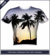 All over print shirts with custom palm tree design