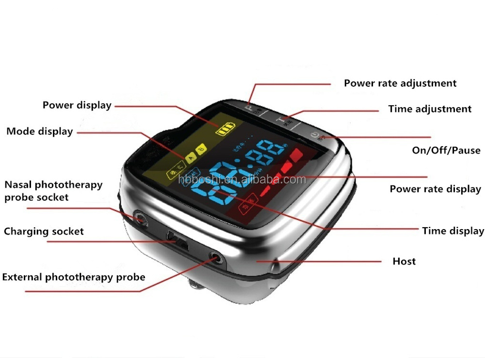 Physical bio blood pressure monitor wrist watch therapy equipment