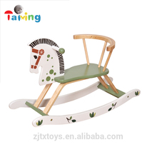 2017 Hot sale wooden rocking horse kids' wooden rocking horse toy, cheap wooden rocking horse