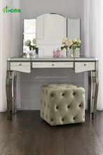 Hot Sale Girls Modern Multi Chest Vanity Mirror dressing table with Folding Mirror