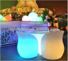 Color changing funky outdoor furniture