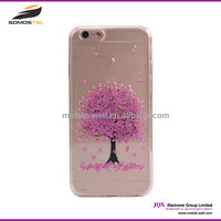 [Somostel] Flower Pattern TPU Diamond Case For iPhone 6, For iPhone 6 Slim Transparent Case TPU Cover