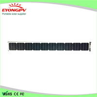factory supply mini semi flexible solar panel with outlet