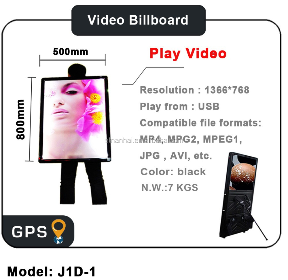 STNANHAI J1D-048 Human Billboard for promotion new media led backlight outdoor street banner