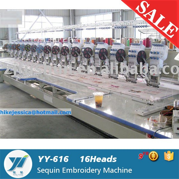 YY- 16 heads single sequin computerized Embroidery Machine