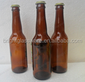 Cheap price 330ml 500ml 650ml 1000ml Amber Beer Glass Bottle With Crown Cap