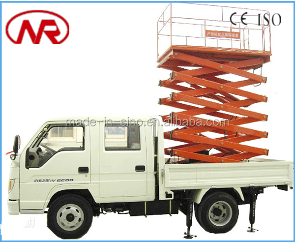 high rise hydraulic aerial work platform truck mounted scissor lift