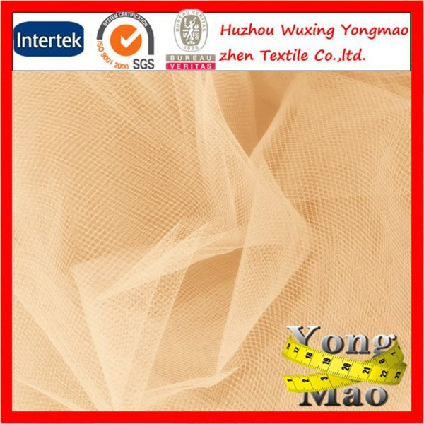 Huzhou hot sale polyester organza fabric for wedding dress/decorating