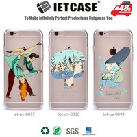 Custom UV printing 3D PC TPU plastic full clear blank case bulk buy from china phone back cover for iphone 6 fashion accessories
