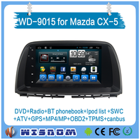 low price WD-9015 NEW Mazda CX-5 touch screen car dvd player car audio 9'' android 4.4.4 with 3g wifi fm radio backup camera CE