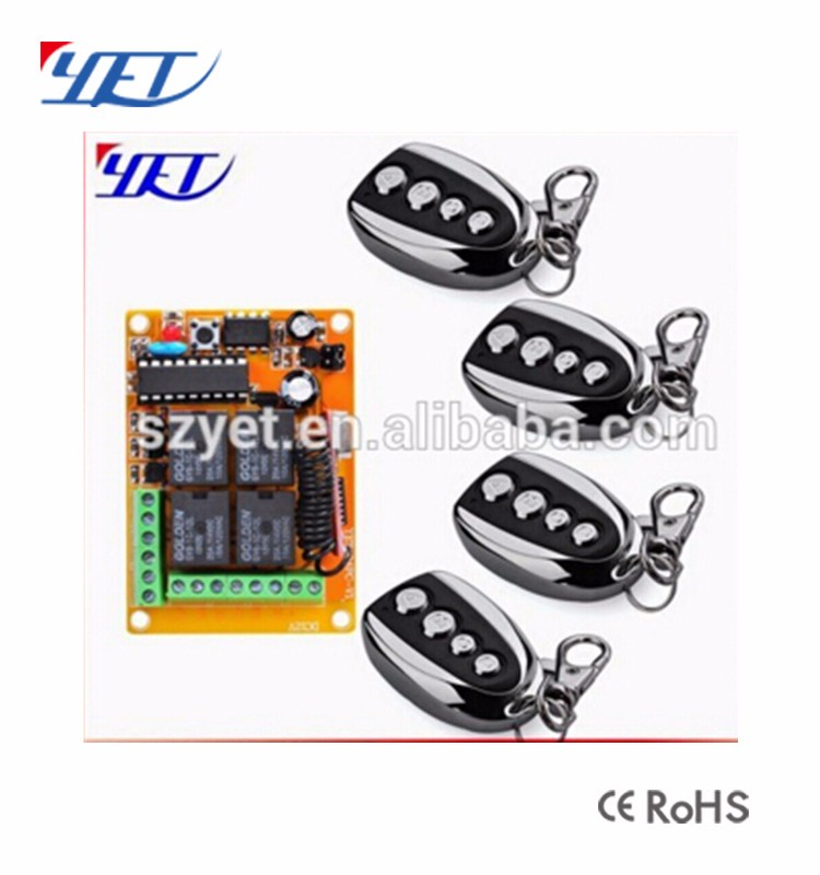 YET404PC Duplicate Car Alarm Wireless Remote Control Contactor 4 Channel RF Transmitter Receiver Circuit