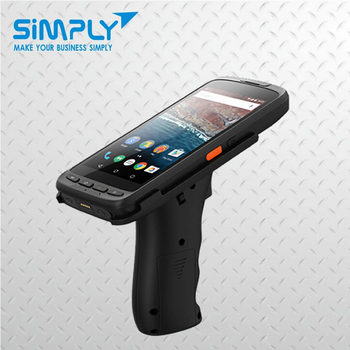 china wifi handheld 1d 2d rugged wireless bluetooth pda android laser long range qr code portable barcode scanner with display